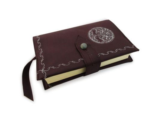 Kožený obal na knihu bordó