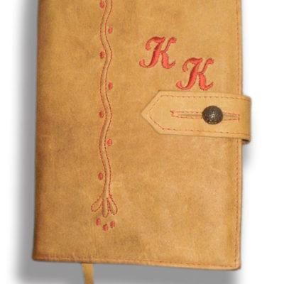 Kožený obal na knihu světlý