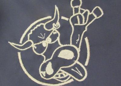Vyšívané logo kapely na přání